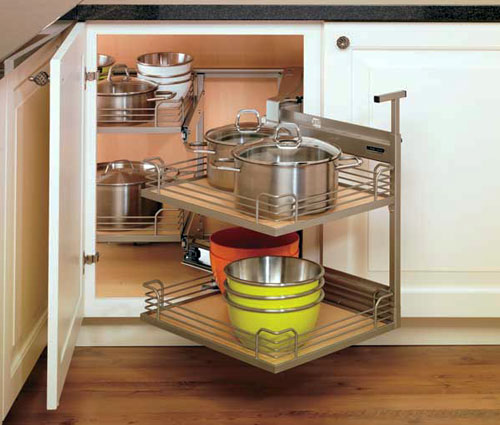 Corner Kitchen Cabinet Storage Ideas Fascinating Clever Corner Storage Ideas For Your Kitchen  Talmadge Construction Design Ideas