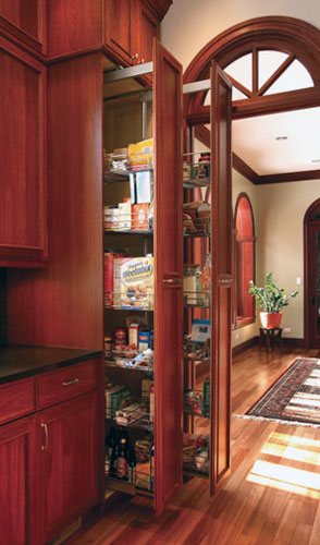 Tall pull-out storage