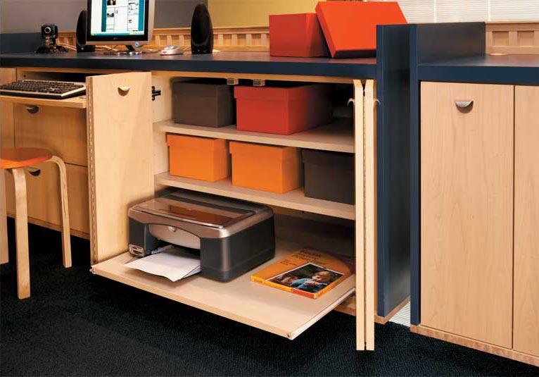 Organization Solutions for Custom Offices or Built-In Desks