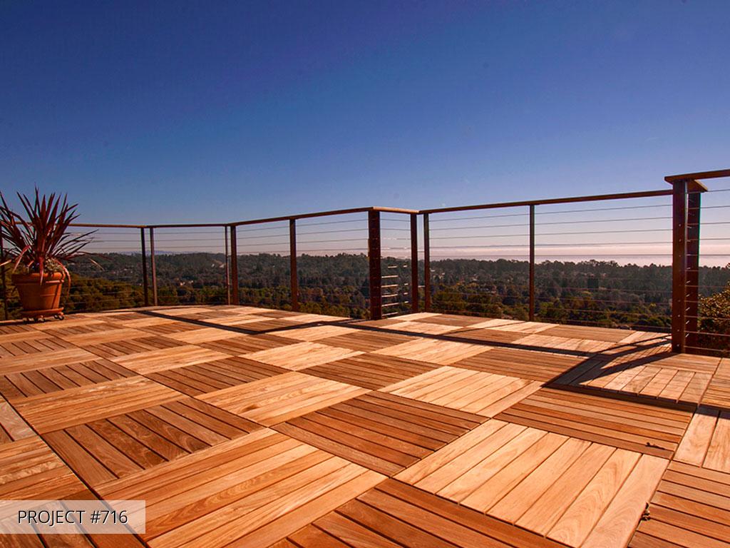 pedestal wood tile deck