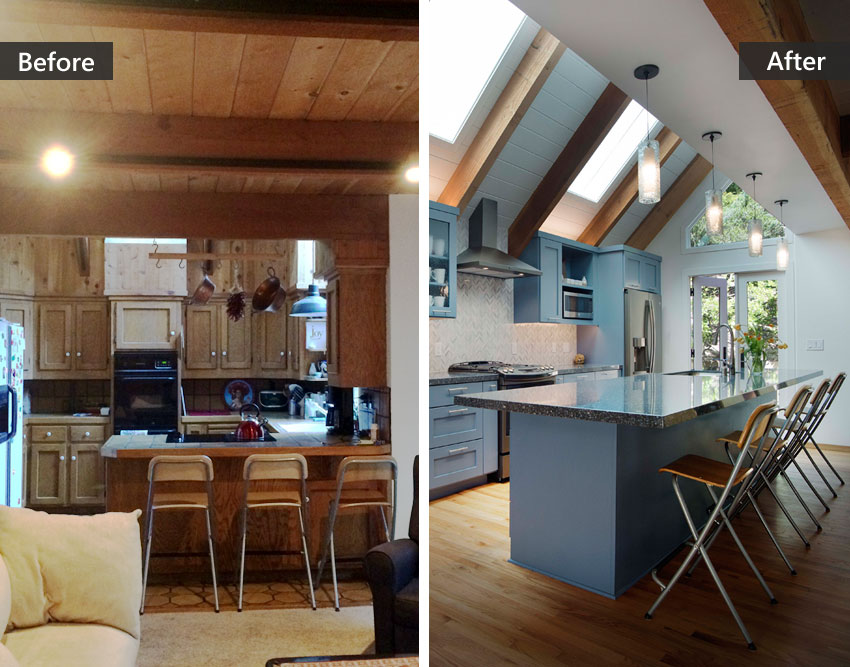 Before After A Contemporary Kitchen Remodel In Aptos Talmadge