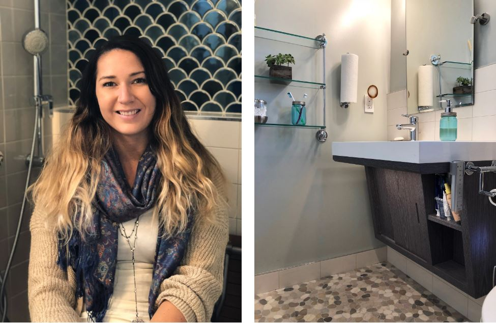 Nicole Brown's Beautiful New Bathroom