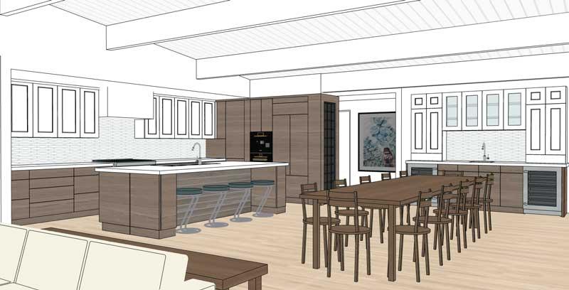 3D rendering of kitchen design