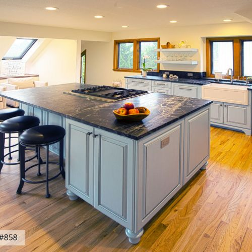 traditional kitchen remodel blue farmhouse